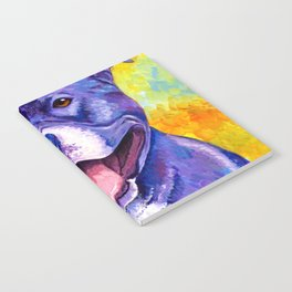 Colorful American Pitbull Terrier Dog Notebook