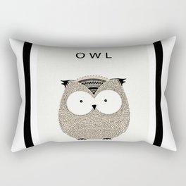 Cute hand drawn owl design Rectangular Pillow