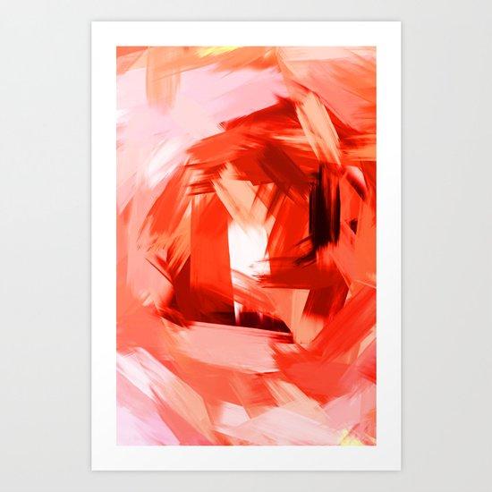 BLOSSOMS - COLORS II Art Print