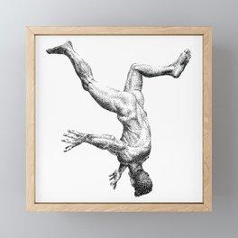 Free Fall NOODDOOD Framed Mini Art Print