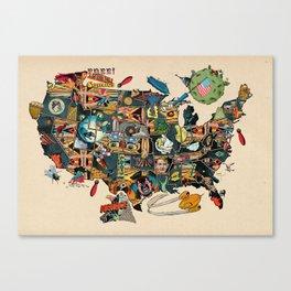 Pre election angst comics map of USA Canvas Print