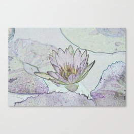 Waterlily Abstract Canvas Print