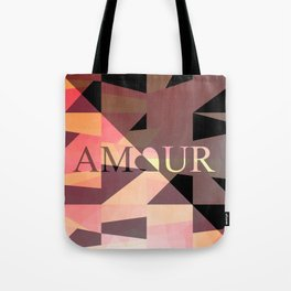 Amour Love Heart Cubic Design Tote Bag