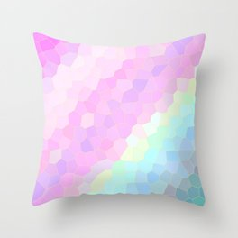 Pastel Illusions Throw Pillow