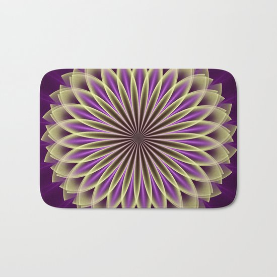 Magical geometric fantasy flower Bath Mat