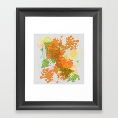 vegetal growth Framed Art Print