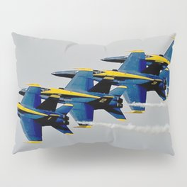 Navy's Blue Angels Airplanes in Formation Flight Pillow Sham