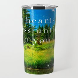 St. Augustine Quote on Mountains Travel Mug
