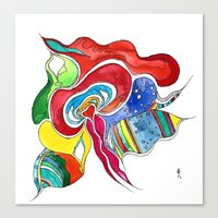 medusa Canvas Prints featuring Medusa by Gosia&Helena