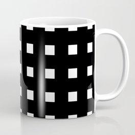 square and tartan 4 Black and white Coffee Mug