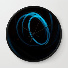 blue cercles Wall Clock