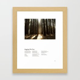 Begging the Tree (w/ Lyrics) Framed Art Print