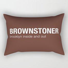 Brownstoner Logo - Dark Rectangular Pillow