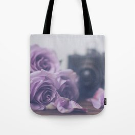 Photogenic Purple Roses Tote Bag