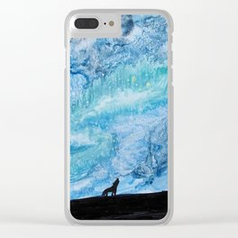 Wolvy Night Sky Clear iPhone Case