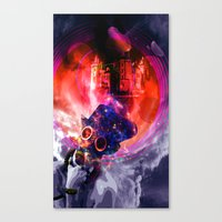 sandman Canvas Prints featuring Sandman by Limbolun