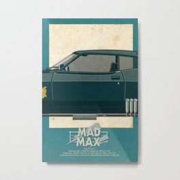 Mad Max's Black on Black Interceptor from Mad Max, 3 of 3 Metal Print