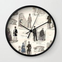 Biedermeier Couples Wall Clock