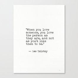 Leo Tolstoy...Love Canvas Print