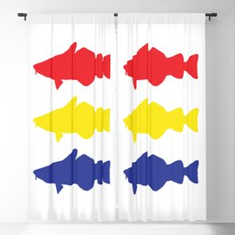 One fish, two fish, three fish Blackout Curtain