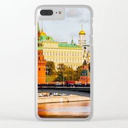 Moscow Kremlin in autumn panorama right Clear iPhone Case