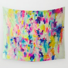 Bright, Neon, Colorful Abstract Painting  Wall Tapestry