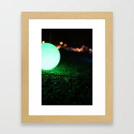 Light and Focus (Green) Framed Art Print