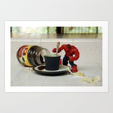 Red Hulk Cuppa Joe Art Print