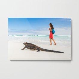 Galapagos wildlife beach Metal Print