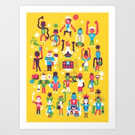 School Daze Art Print