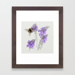 Watercolor Bumble Bee Framed Art Print