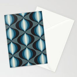 Onions in Blue and Black Stationery Cards