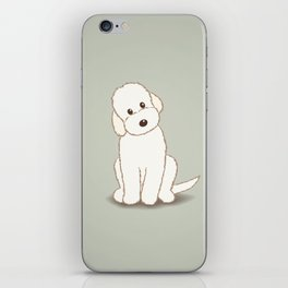 Cream Labradoodle Dog Illustration iPhone Skin