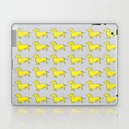 Doxie Love - Grey and Yellow Laptop & iPad Skin