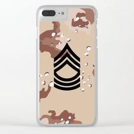 Master Sergeant (Desert Camo) Clear iPhone Case
