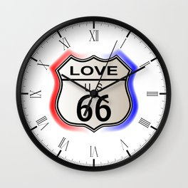 Love Route 66  Wall Clock