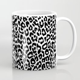Leopard Pattern (Black and White) Coffee Mug
