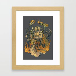 The Robots Came Out At Knight Framed Art Print
