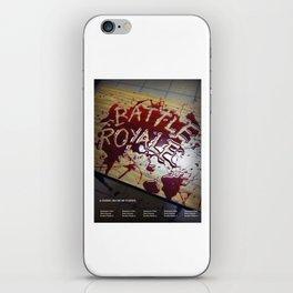 Battle Royale - Japanese film poster iPhone Skin