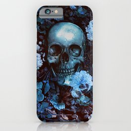 Skull and Flowers iPhone Case