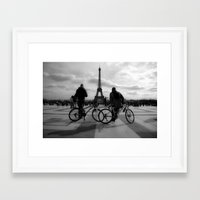 tour de france Framed Art Prints featuring Tour de France by HAUS of SILVA