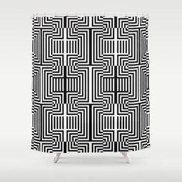 Op art pattern Shower Curtain