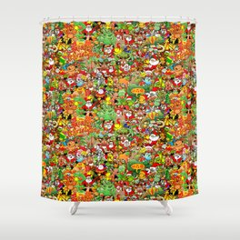 In Christmas melt into the crowd and enjoy it Shower Curtain