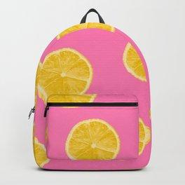 Lemons pink background Backpack