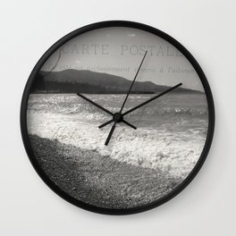 Amalfi coast postcard Wall Clock