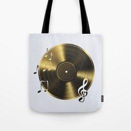 Gold LP Vinyl Record Tote Bag