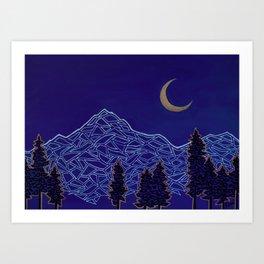 Mountain Moon Art Print