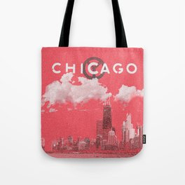 Chicago - Red Tote Bag