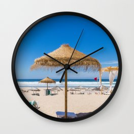 Flat Earth Beach Wall Clock