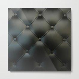 Black Leather Metal Print